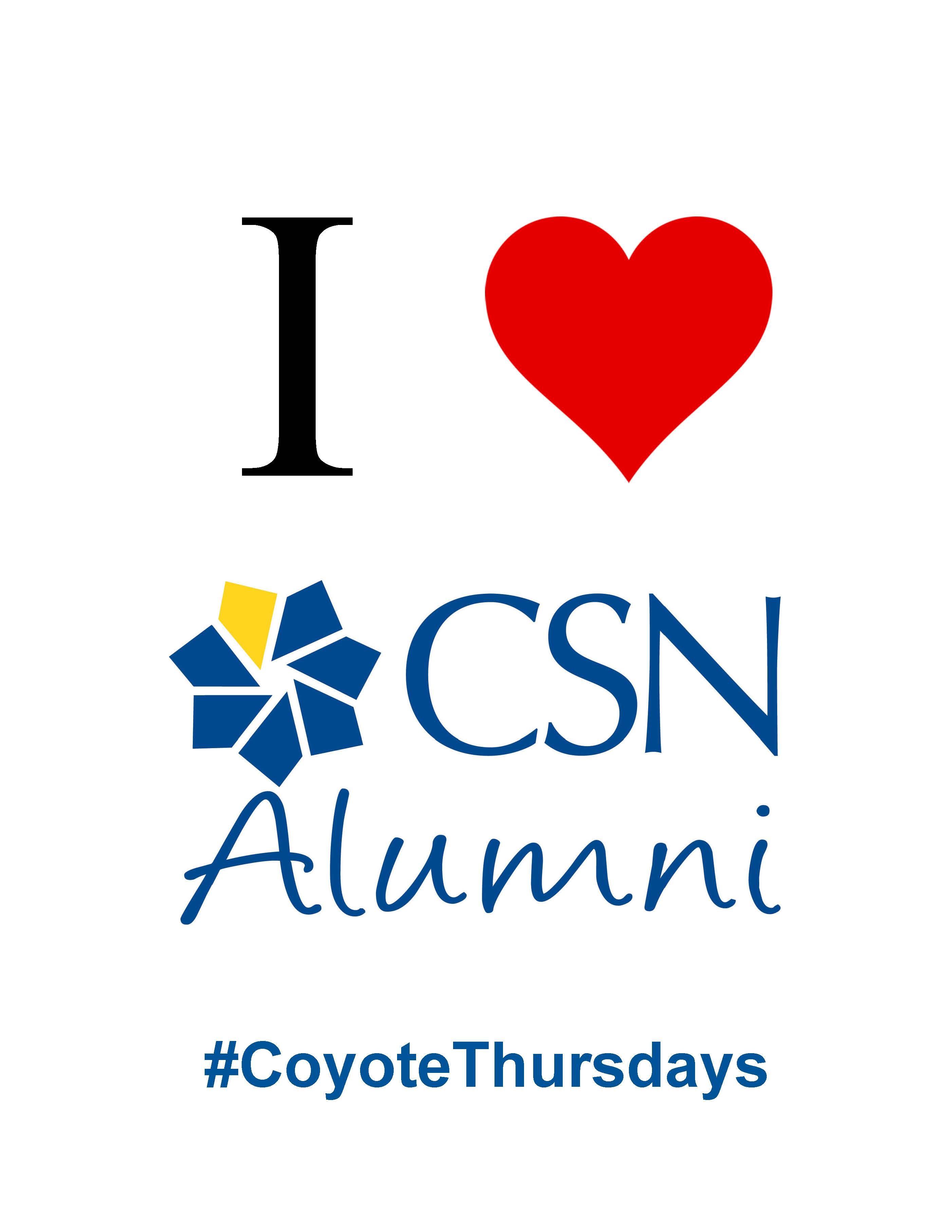 I Heart CSN Alumni Flyer